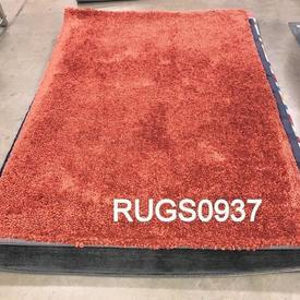 230 X 160Cm Coral Orange Shaggy Rug