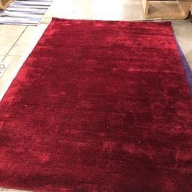 230 X 160Cm Berry Red Shag Milo Rug