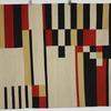 196 X 148Cm Black, Beige, Red & Yelow Block Pattern Kilim Rug