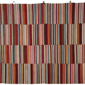 234 X 177Cm Multi Coulour Striped Kilim Rug