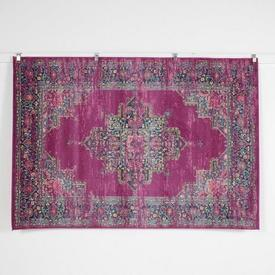 230 X 160Cm Cherise Pink Faded Traditional Rug