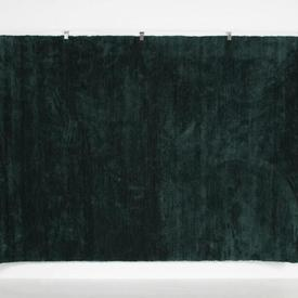 300 X 200Cm Bottle Green Viscose Pile Blade Rug