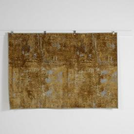 200 X 140Cm Gold with Silver Splatter Rug