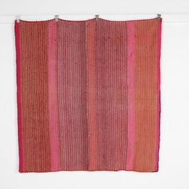 158Cm X 145Cm Red, Pink & Orange Throw Rug