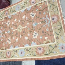 177Cm X 125Cm Pink & Beige Floral Pattern Rug