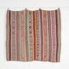 166Cm X 142Cm Beige with Pink Ornage Green Patt Stripe Throw Rug