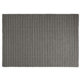 230Cm X 160Cm Connaught Charcoal & White Pattern Rug