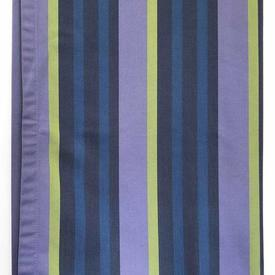 "Throw 57"" x 55"" Mauve Designers Guild Stripe Repp / Floral Lined"