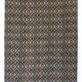 "Travel Rug 63"" x 55"" Grey Check Welsh Wool / Fringe"