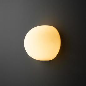 Large White Glass ''Glo-Ball'' Wall Light
