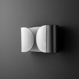 Curved Rect Chrome ''Foglio'' Wall Light
