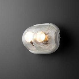 White ''Noce'' Bulk Head Wall Light