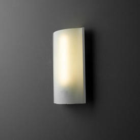 Rect Curved Satin Ali & Frosted Dimpled Glass Wall Light