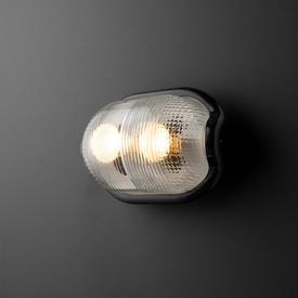 Grey Hammerite ''Noce'' Bulk Head Wall Light