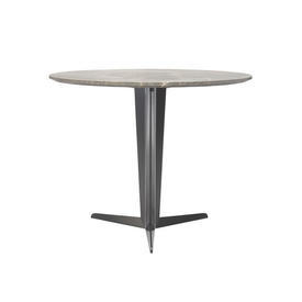 "Circ Grey Marble ""Attico"" Table on Pewter Tri Leg Base"