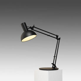 Black ''Arki'' Anglepoise Desk Lamp with Domed Shade
