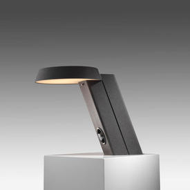 Caviar Grey Painted Aluminium Model 607 Slanted Desk Lamp