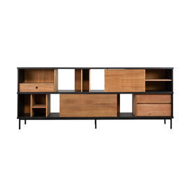 Teak & Black ''Oscar'' 2 Door, 3 Drawer Sideboard