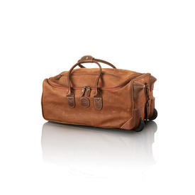 """Brics Brown Suede & Leather """"Life""""  Holdall on Wheels"""