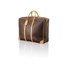 "Monogram ""Lv"" Soft Leather Suitcase"