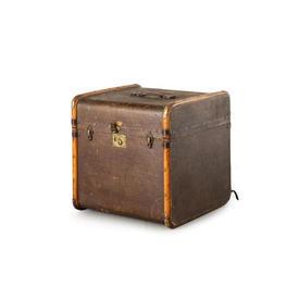 Square Brown & Brass Vintage Trunk