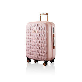 Large Pink Bow Embossed T.B Trolley Case