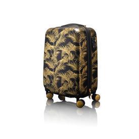 Small Black & Gold Biba Jungle Palm Trolley Case