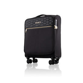 "Small Black Nylon Quilted ""DKNY"" Trolley Case"
