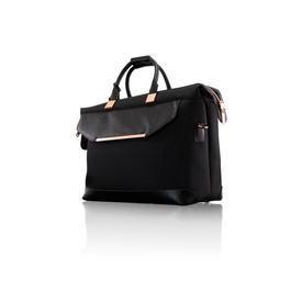 Black Nylon/Leather & Rose Gold T.B Holdall