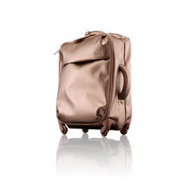 "Rose Gold Leatherette ""Miss Plume"" Trolley Case"