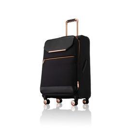 Medium Black Nylon/Leather & Rose Gold T.B Trolley Case