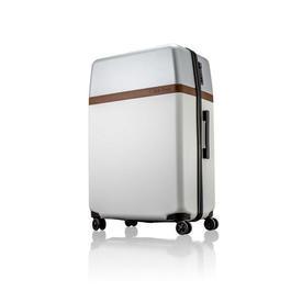 Large White & Silver C.K Trolley Case