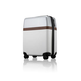 Small White & Silver C.K Trolley Case