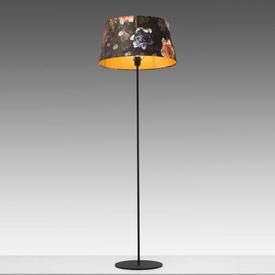 Black Metal Floor Lamp (Shade Not included)