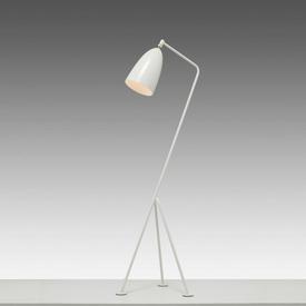 """Oyster White """"Grasshopper"""" Tripod Floor Lamp"""