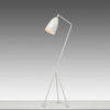 "Oyster White ""Grasshopper"" Tripod Floor Lamp"