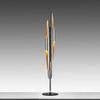 Chrome & Copper Flute Tube Floor Lamp