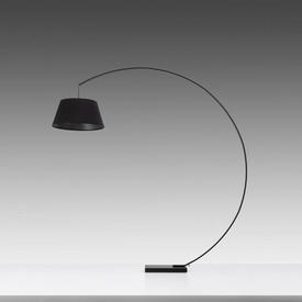 Black Arc Floorstanding Lamp with Black Shade