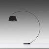 Black Arc Floorstanding Lamp with Black Shade