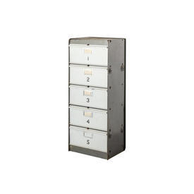 2 Tone Grey Metal 5 Draw Numbered Filing Unit