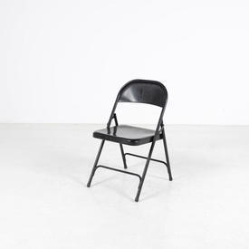 Black Metal Simple Folding Chair