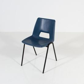 Dark Teal Plastic Black Metal Leg Polyprop Chair