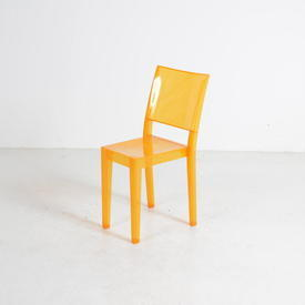 Orange Perspex 'La Marie' Chair