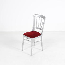 Silver Hps Band Chair with Red Seat