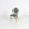 Bamboo Frame Woven Green Seat & Back Cafe Chair
