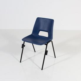 Dark Navy Polyprop Stacking Chair with Leg Lock Fitting