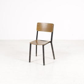 Ply Seat & Back Black Metal Frame Edwards Stacking Chair
