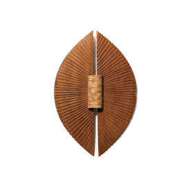"""Oval Carved Oak & Ash """"Angelwing"""" Wall Sculpture"""