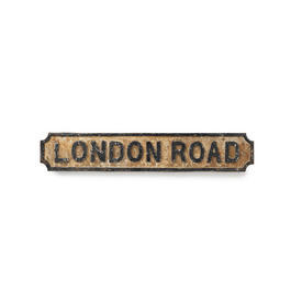 Cast Iron London Road Street Sign