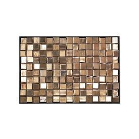 Gold Ceramic Glaze Wall Tiles in Black Frame